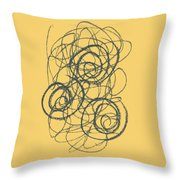 Green And Gold 2 Throw Pillow