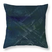 Green And Purple Fan Throw Pillow