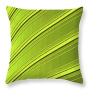 Green And Yellow Building Abstract Throw Pillow