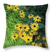 Green And Yellow Burst Throw Pillow