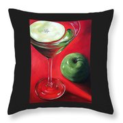 Green Apple Martini Throw Pillow