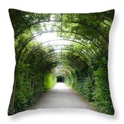 Green Arbor Of Mirabell Garden Throw Pillow