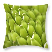 Green Banana Bunch Throw Pillow