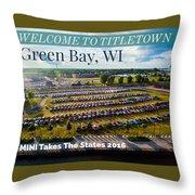 Green Bay Evening 1 W/text Throw Pillow