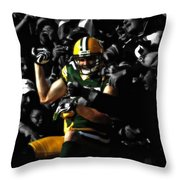 Jordy Nelson Lambeau Leap Throw Pillow