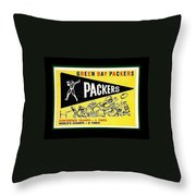 Green Bay Packers 1959 Pennant Throw Pillow