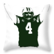 Green Bay Packers Bret Favre 3 Throw Pillow
