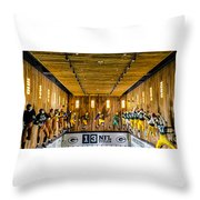 Green Bay Packers Uniforms Then And Now Throw Pillow