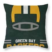 Green Bay Packers Vintage Art Throw Pillow