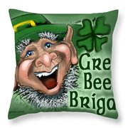 Green Beer Brigade Throw Pillow
