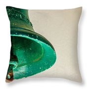 Green Bell Throw Pillow by Fabio Giannini