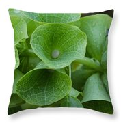 Green Bells Throw Pillow