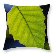 Green Beech Leaf 1 Throw Pillow