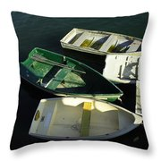 Green Boat Throw Pillow