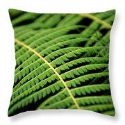 Green Bracken Throw Pillow