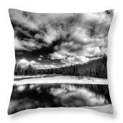 Green Bridge Solitude Throw Pillow