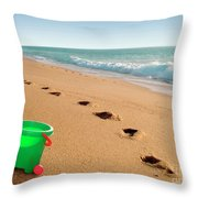 Green Bucket  Throw Pillow