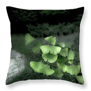 Green Butterflies  Throw Pillow