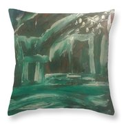 Green Cabin Throw Pillow by Gregory Dallum