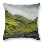 Green Canyon Throw Pillow
