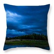 Green Cay Storm 5 Throw Pillow