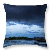 Green Cay Storm 6 Throw Pillow