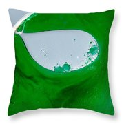 Green Chemicals Abstract Throw Pillow