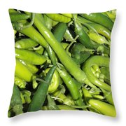 Green Chilis Throw Pillow