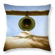 Green Church Bell Throw Pillow