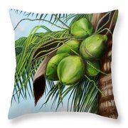 Green Coconuts- 01 Throw Pillow