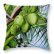 Green Coconuts-02 Throw Pillow