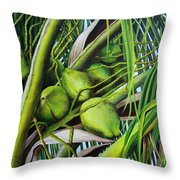 Green Coconuts- 03 Throw Pillow