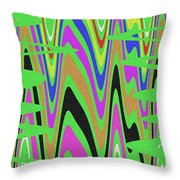 Green Color Abstract #140 Throw Pillow