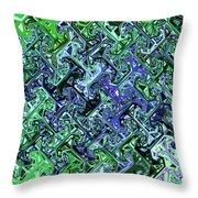 Green Crystal Digital Abstract Throw Pillow