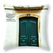 Green Door 6 Throw Pillow