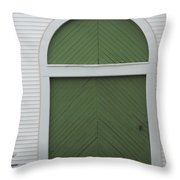 Green Door Arch Throw Pillow