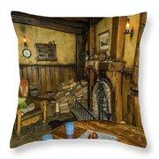 Green Dragon Fireplace Throw Pillow
