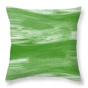 Green Drift- Abstract Art By Linda Woods Throw Pillow