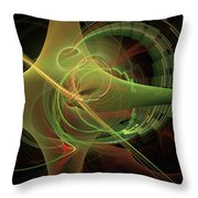 Green Energy Tunnel Throw Pillow