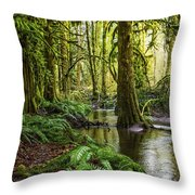 Green Everywhere Throw Pillow