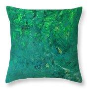Green Exoplanet Surface Throw Pillow