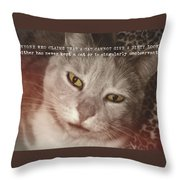 Green Eyed Glare Quote Throw Pillow