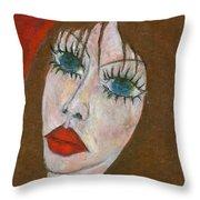 Green Eyed II  Throw Pillow