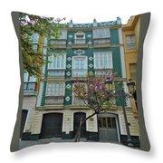 Green Facade Cadiz Throw Pillow