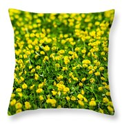 Green Field Of Yellow Flowers 2 1 Throw Pillow