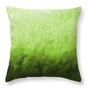 Green Fire Throw Pillow