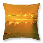 Green Flash Sunset II Throw Pillow