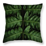 Green Foilage Of Indonesia Throw Pillow