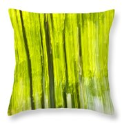 Green Forest Abstract Throw Pillow