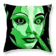 Green Forest Fairy Throw Pillow